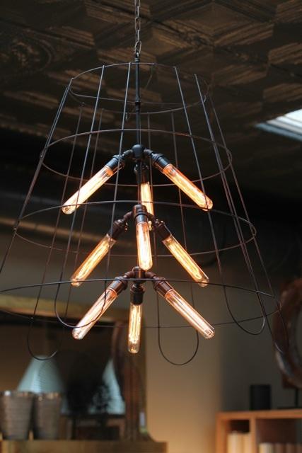 chandelier, black, iron, rustic, modern
